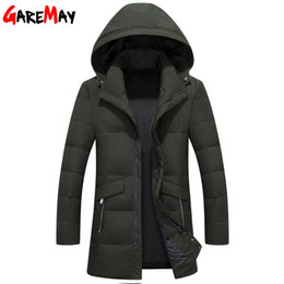 Wholesale White Long Puffer Coat - GAREMAY Duck Down Puffer Jacket Men Winter Parkas Big Size Men's Coats Pattern Clothing Warm Waterproof Short Outwear Black