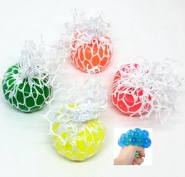 Wholesale funny stress reliever - 4.5cm Anti Stress Face Reliever Grape Ball Autism Mood Squeeze Relief Healthy Funny Tricky Toy Gadget Vent Decompression toys KKA5554