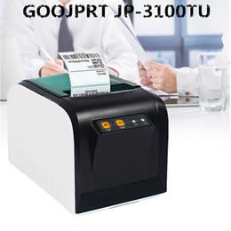 kommerzielle etikettendrucker Rabatt GOOJPRT JP-3100TU Thermo-Etikettendrucker 80mm Aufkleber Druckmaschine Mit USB Serielle Schnittstelle Für Home Commercial Kaffee Verwenden
