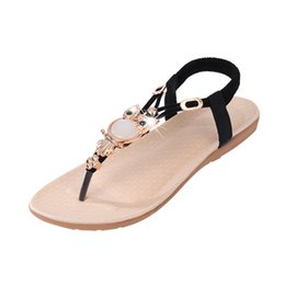 Wholesale vacation sandals - 2018 New Summer Sandals Women's Fashion Casual Shoes Bohemia Flat Soft Beach Sandals Vacation Women's