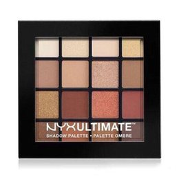 Wholesale Palette Warm Shimmer - NEWEST NYX Professional Makeup Warm Neutrals Eyeshadow Palette 16 color eyeshadow palette eyeshadow DHL Free shipping+GIFT