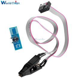 Toma sop8 online-Envío gratis SOIC8 SOP8 DIP8 Flash Chip IC Clips Socket Adpter BIOS / 24/25/93