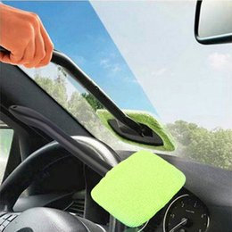 Wholesale long sponge - Microfiber Auto Window Car Cleaning Long Handle Car Wash Brush Dust Car Care Windshield Shine Towel Handy Washable Cleaner OOA4600