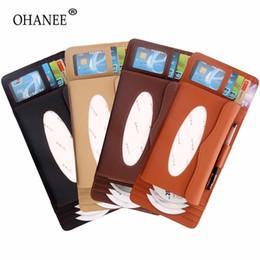 2019 scatole per auto OHANEE universal Car sun Visor tipo scatola del tessuto Card slot cd card Clip per auto parasole Organizer auto Accessori Styling scatole per auto economici