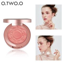 Creme wange online-O.TWO.O Gesicht Blusher-Puder-Rouge Make-up Cheek Powder Rouge Mineral Palettes Rougepinsel Palette Creme Natürliche Blush