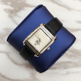 blue female watches Promo Codes - Luxury Square Case Fashion women watch genuine leather Luxury Female wristwatch Female clock japan movement quartz watch top brand table