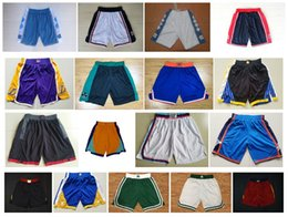 Wholesale gold carolina - 2018 Men's Basketball Shorts 1992 Teams USA North Carolina New Breathable Sweatpants Swingman Sportswear Shorts Embroidery Logo Mix Order !