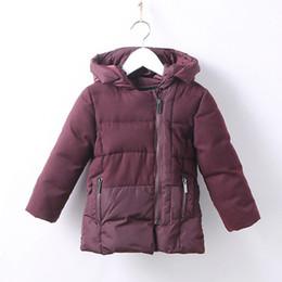 Wholesale Korean Girl Down Jacket - Korean Style 2017 Winter Children Jackets for Girls Parka Fleece Hooded Warm Padded Kids Clothing Boys Outerwear Coat DQ702