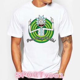 f6c1743355a 2018 T-Shirts Rick and Morty men t shirt Summer Anime T-shirts Peace among  worlds folk White Printed Cartoon Fitness tee shirt
