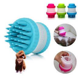 Wholesale wholesale grooming tables - Pet cat and dog general Bath brush Massage products Shampoo dilute bottle Silica gel brush Bath comb DDA346