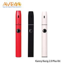 Cigarro eletrônico kamry on-line-100% Original Kamry Kecig 2.0 Além disso Starter Kits Com 650mAh erva seca Cigarros vaporizador Vape Kit Eletrônico