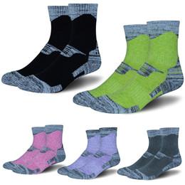 Wholesale high performance camp - Outdoor Skiing Socks Women & Men Wicking Cushion Multi Performance Hiking Trekking Walking Running Socks High Towel Socks 6 Colors G492Q