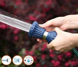 2019 grandes pistolas de agua Alta calidad Cobre Pistola de agua para jardín Alta presión Boquilla de gran caudal Jardín Agua Pistola pulverizadora Lanza de agua Pulverización Herramientas de riego para jardines grandes pistolas de agua baratos