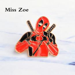 Wholesale wedding jeans - Miss Zoe Deadpool hand hart emaille pin Anime hero badge broche Cartoon pictogrammen Denim jas Jeans shirt tas Knop Pin Gift voor vrienden