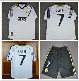 98 99 00 Real Madrid Retro Soccer Jersey RAUL Football Shirts 1998 1999  2000 Redondo Carlos Seedorf Vintage Classic Camiseta de Futbol c7be3ed68