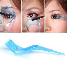 protetores de cartão Desconto Hot Moda 3 em 1 Mascara Escudo Guarda Eyelash Comb Aplicador Cartão Guia Mulheres Maquiagem Ferramenta