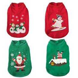 Vêtements pour animaux de compagnie santa en Ligne-Joyeux Noël Chien Vêtements Festival Mignon Chandail Vêtements d'extérieur Père Noël Vêtements Automne Hiver Vestes Manteau Lâche Pet Supplies 19h bb