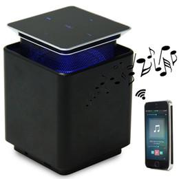 Orador de levitação on-line-Portátil Blutooth Speaker LED Up Down Interruptor de Tela de Toque Subwoofer Levitação Magnética Flutuante Coluna de Rotação de Música caixa de Som