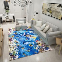 Wholesale printed area rugs - 3D printing carpet Super Soft Silk Wool Rug Indoor Modern Shag Area Rug Silky Rugs Bedroom Floor Mat Baby Nursery Rug Children Carpet