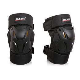 Rodilleras motocicleta codo rodilleras online-Motocicleta Kneepad Racing Armor Protection PP + EVA Moto Elbow Rodilleras Motocross Racing Protective Gear Protector Guards Kit