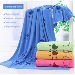 Wholesale Golden Towel - 140*70cm Super-sized footprint microfiber strong absorbing water bath pet towel dog towels Golden retriever teddy general