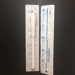 Argentina Lápiz Microblading desechable para cejas de 10 unidades / lote con hoja de aguja de 18 U Herramienta manual de aguja Microblade en fecha de caducidad / Nº de lote Suministro