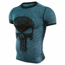 Wholesale Men Superheroes - 2017 New Fitness Compression Shirt Men T Shirt Superhero Bodybuilding Tight Short Sleeve T Brand Clothing Tops