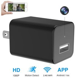Wholesale Video Wifi Adapter - HD 1080P Hidden Spy Camera P2P WiFi Video Camcorder Remote View Mini Security Home Nanny Pet Baby Cam Wall Charger Adapter for IOS Android