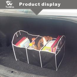 2020 espacio de almacenamiento de coche Caja de almacenamiento plegable múltiple A prueba de polvo a prueba de polvo Tela no tejida Automóviles Accesorios Interior Ahorre Space Car Trunk Organizer. espacio de almacenamiento de coche baratos