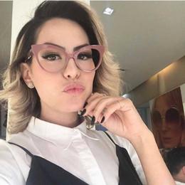2019 blaue mondbrille Gläserrahmen für Frauen Europa und die Vereinigten Staaten Retro Brille Rahmen weiblichen Rahmen mit Myopie Sonnenbrillen