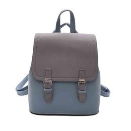 süße rucksäcke für mädchen Rabatt Frauen PU Einfarbig Einfachen Stil Rucksack Mode Wild Gezeiten Frauen Einkaufsreise Rucksack Süße Mädchen Schule Schultasche