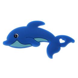 Juguete de silicona con delfines online-Baby Silicone Dolphin Crib Sensory Toys DIY Accesorios de enfermería Silicone Teether envío gratis wholesae alta calidad venta caliente nuevo oem