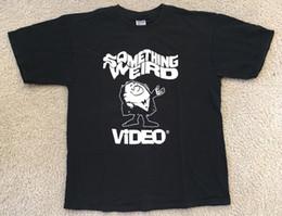 RARO!! ALGO VÍDEO WEIRD VTG Camiseta CULT HORROR B-FILME GRINDHOUSE SEX TOP @ de