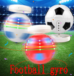 Wholesale toy drop shipping - Football Soccer Gyros World Cup Rotary Tabletop Gyro Flash Gyroscope Acoustic Light Toy Sale Around School Support FBA Drop Shipping G713R