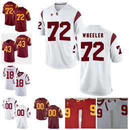 85e44fcf954 Custom NCAA USC Trojans #7 Stephen Carr 18 JT Daniels 10 Jack Sears 19 Matt  Fink Limited College Football Jerseys White Red S-3XL