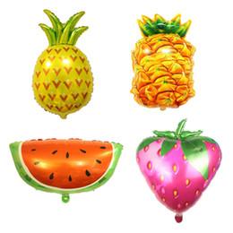 Аксессуары для фруктов онлайн-50 шт./лот клубника фрукты форма воздушный шар фольги шары фестиваль День рождения украшения поставки надувать мяч игрушки