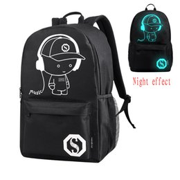 Wholesale Glow Crosses - School Backpack Student Luminous Animation College Students Trendy Joint School Bags For Teenager Computer Bag Glow In The Dark Backpacks
