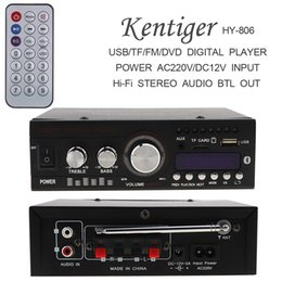 Wholesale 12v Usb Power - Bluetooth 2CH Hi-Fi Car Stereo Audio Power Amplifier Digital Player Support USB SD FM DVD DC12VAC220V AC110V CAU_10U