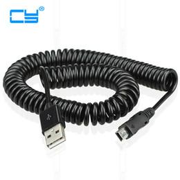 Mp3 primavera online-3m / 10ft gomito Molla USB 2.0 maschio a MINI USB 5PIN Cavo caricatore di sincronizzazione dei dati per MP3 MP4 Car Cellulare e fotocamera