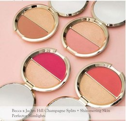 Wholesale Hill Mix - Dropping shipping Becca Jaclyn Hill Blush With Highlighter Hot Sale Becca x Double Blush 0.28OZ 4 Colors Blush Cosmetics
