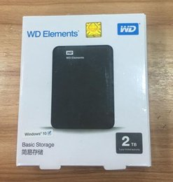 "Wholesale Usb Drive Desktop - New received Hard disk 2TB 2.5"" 2.0 Portable USB Hard Drive HDD Black External Hard drives"