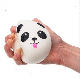 Amuleto de panda online-4cm Squishy Panda Teléfono Correas Bollos Pan llavero charm Suave Panda Squishy Bread Celular del teléfono móvil para iphone 8 más x Samsung note 8 mejor