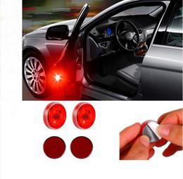 Wholesale traffic warning lights - 2pcs Set Car LED Door Opening Warning Reflector Auto Strobe Traffic LED Emergency Light Car Door Lights Anti Collision Magnetic Control