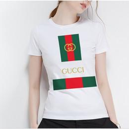 2019 animal de visón blanco Nueva camiseta de la marca de moda de la llegada 2018, blusa del diseñador, pintada casual, camiseta preciosa de la señora