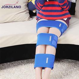 Correzione gamba online-vendita all'ingrosso O / tipo di X gamba gambe a ginocchio ginocchio Valgum raddrizzamento correzione cinghie fascia postura correttore bellezza gamba ortesi bande