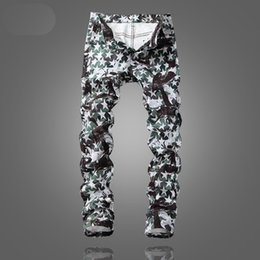 0d93540ae0e0f Discount new pattern jeans pant - New Star Print Green Jeans Fashion Slim  England Style Trousers