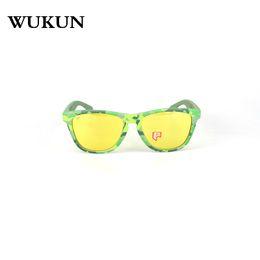 555f31b0e92 WUKUN 2018 New Style Camo Cycling Glass Polarized 100% UV400 Lens Sport  Fishing Eyewear Knock Rock Glass