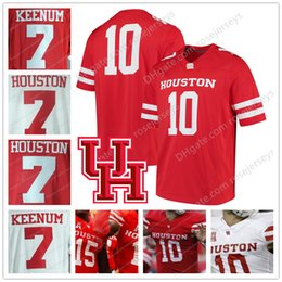 Wholesale Custom Casing - Custom NCAA Houston Cougars #7 Case Keenum 10 Kyle Allen Red White College Football Stitched Your Any Number Name Jerseys 2018 UH S-3XL