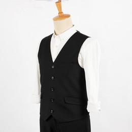 Wholesale Stylish Groom Vests - Suit ma3 jia3 Men Black Suit Vest Waistcoat latest Style Classic Vests tailor made simple stylish groom best man tuxedos vest