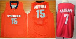 2019 Orange Syracuse n ° 15 Carmelo Anthony n ° 7 n ° 3 Chris Paul Hommes Université Basket-ball Vintage Maillots Pro Team Maillots De Sport Chemises Brodées ? partir de fabricateur